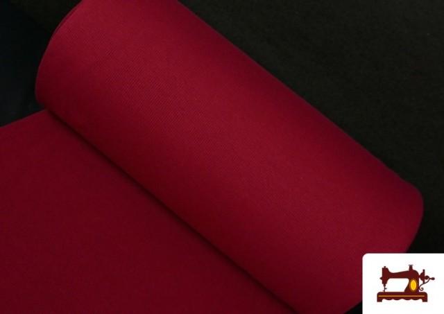 Comprar online Tela de Puño Canale de Colores color Granate