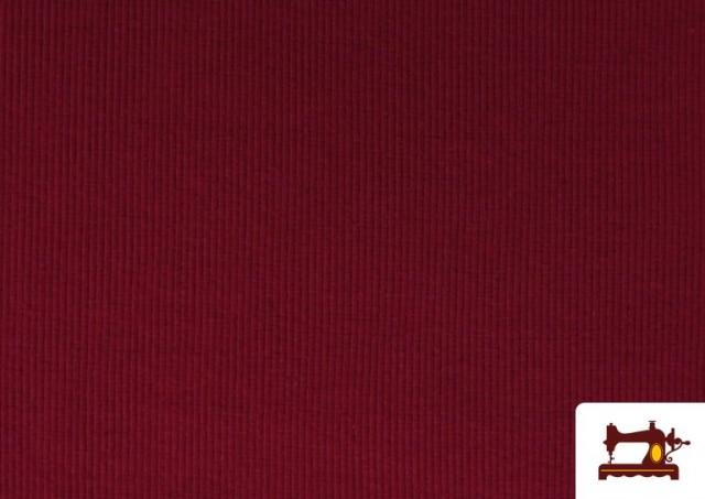 Venta online de Tela de Puño Canale de Colores color Granate