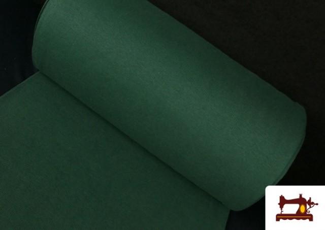 Tela de Puño Canale de Colores color Verde botella