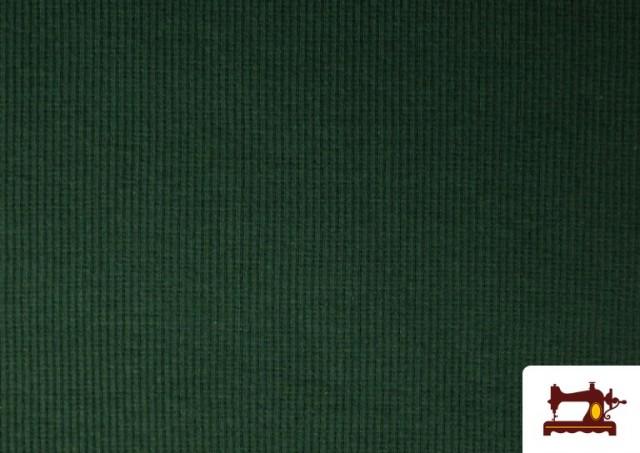 Comprar Tela de Puño Canale de Colores color Verde botella