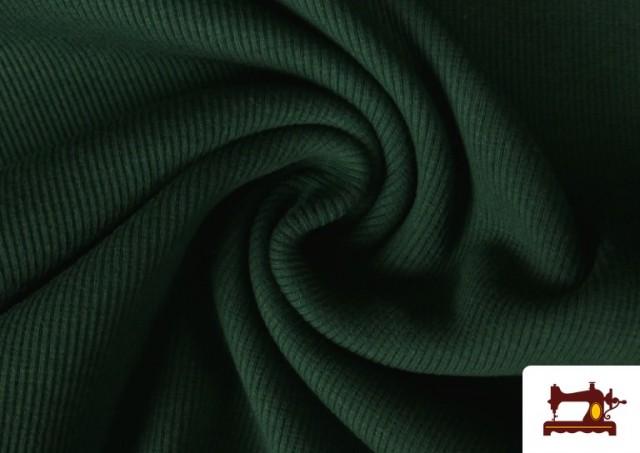 Venta de Tela de Puño Canale de Colores color Verde botella