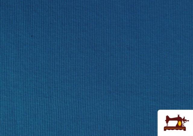 Comprar Tela de Puño Canale de Colores color Azul azafata
