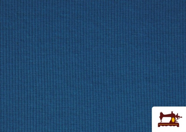 Venta de Tela de Puño Canale de Colores color Azul azafata