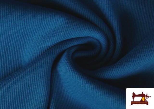 Comprar online Tela de Puño Canale de Colores color Azul azafata