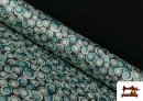Comprar Tela de Creppe Satén Geometrico de Colores color Verde