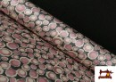 Venta online de Tela de Creppe Satén Geometrico de Colores color Rosa pálido