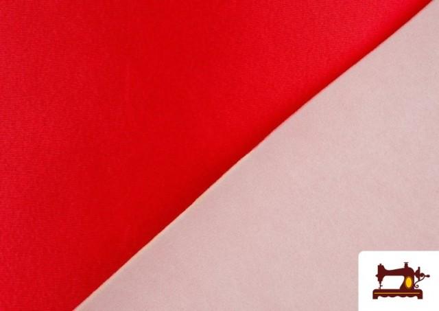 Comprar Tela de Foam de Rasete con Espuma color Rojo