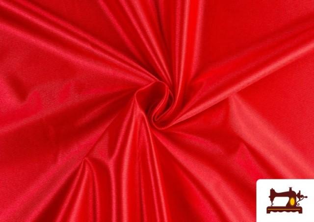 Venta de Tela de Foam de Rasete con Espuma color Rojo
