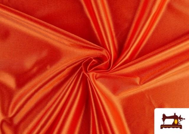 Tela de Foam de Rasete con Espuma color Naranja
