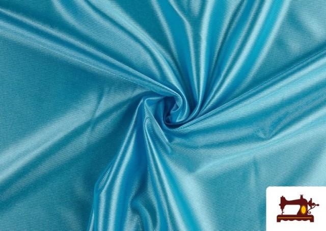 Venta online de Tela de Foam de Rasete con Espuma color Azul turquesa
