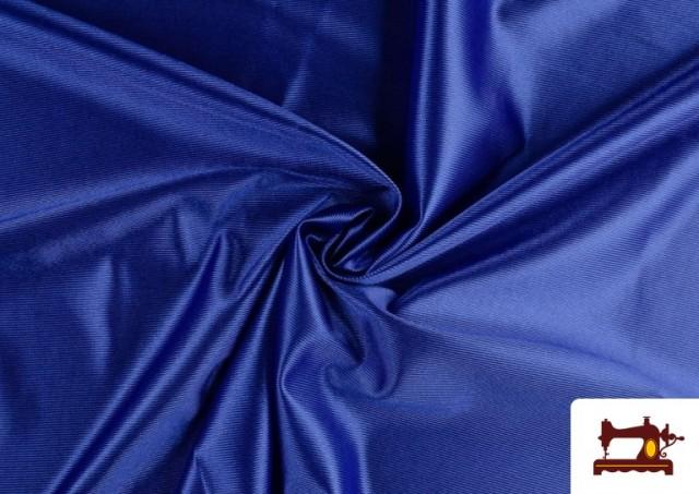 Tela de Foam de Rasete con Espuma color Azulón