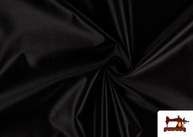 Venta online de Tela de Foam de Rasete con Espuma color Negro