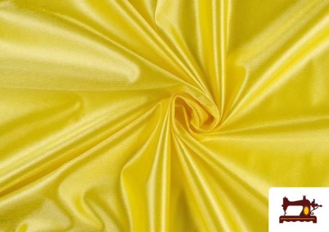 Tela de Foam de Rasete con Espuma color Amarillo