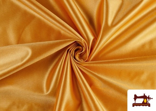 Tela de Foam de Rasete con Espuma color Dorado
