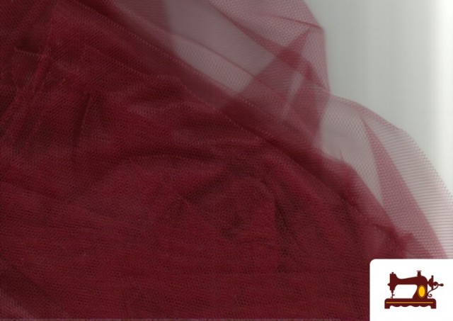 Tela de Tul para Eventos y Decoración color Granate