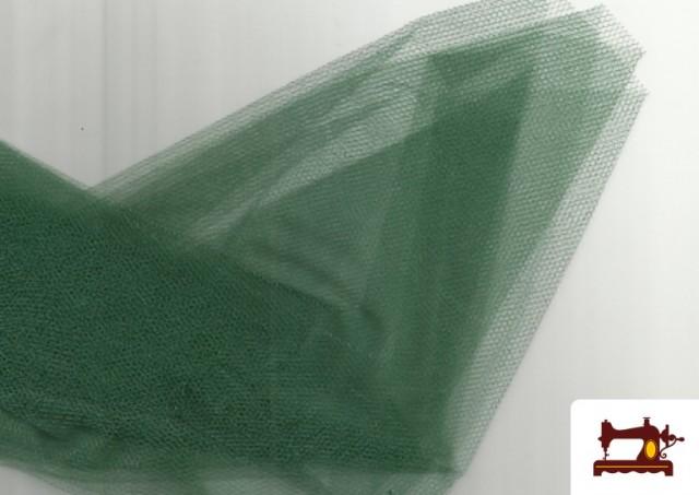 Venta de Tela de Tul para Eventos y Decoración color Verde botella