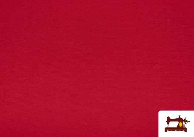 Tela Plana Stretch Economica Multicolor, Negro, Blanco +16 Colores color Rojo