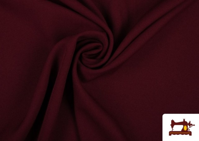 Comprar Tela Plana Stretch Economica Multicolor, Negro, Blanco +16 Colores color Granate