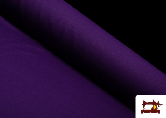 Tela Plana Stretch Economica Multicolor, Negro, Blanco +16 Colores color Morado