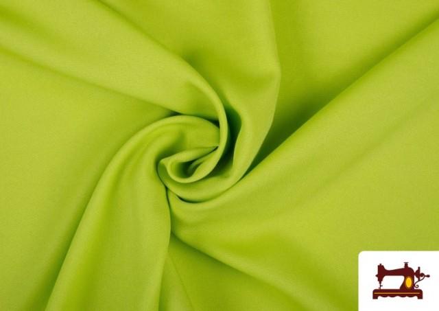 Comprar online Tela Plana Stretch Economica Multicolor, Negro, Blanco +16 Colores color Pistacho
