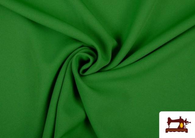 Tela Plana Stretch Economica Multicolor, Negro, Blanco +16 Colores color Verde