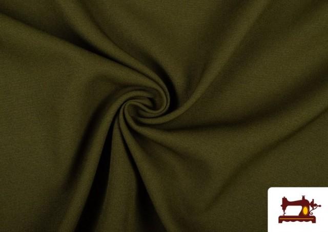 Comprar Tela Plana Stretch Economica Multicolor, Negro, Blanco +16 Colores color Caqui