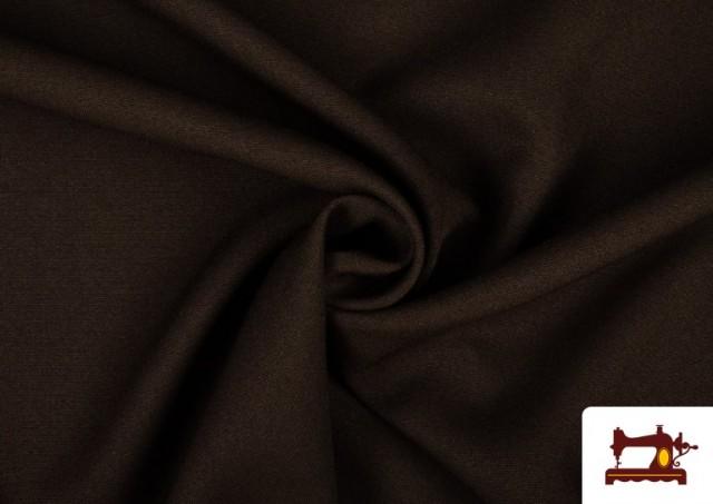 Tela Plana Stretch Economica Multicolor, Negro, Blanco +16 Colores color Marrón