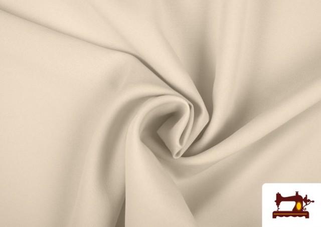 Tela Plana Stretch Economica Multicolor, Negro, Blanco +16 Colores color Crudo