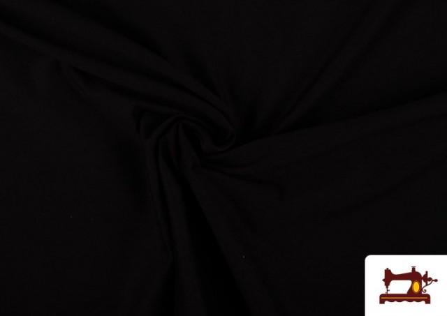 Venta online de Tela Plana Stretch Economica Multicolor, Negro, Blanco +16 Colores color Negro