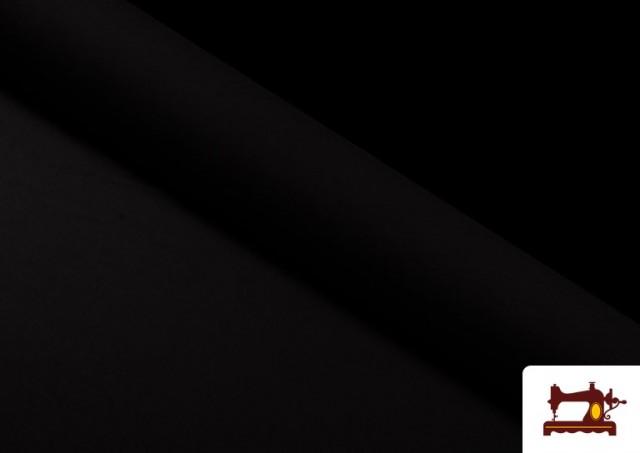 Tela Plana Stretch Economica Multicolor, Negro, Blanco +16 Colores color Negro