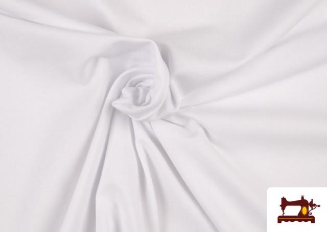 Venta online de Tela Plana Stretch Economica Multicolor, Negro, Blanco +16 Colores color Blanco