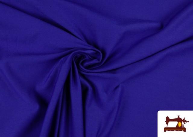 Tela Plana Stretch Economica Multicolor, Negro, Blanco +16 Colores color Azulón
