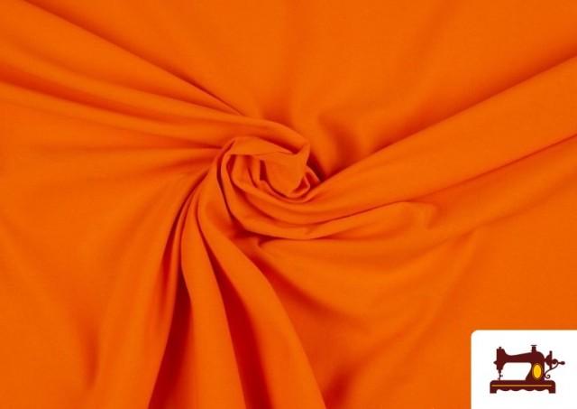 Comprar Tela Plana Stretch Economica Multicolor, Negro, Blanco +16 Colores color Naranja