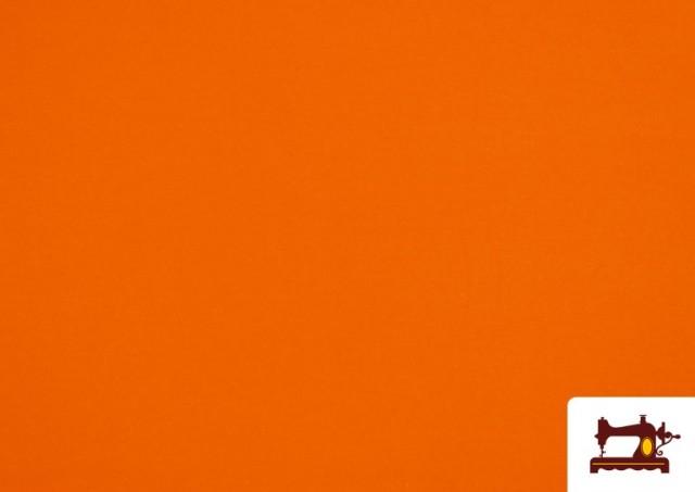 Venta de Tela Plana Stretch Economica Multicolor, Negro, Blanco +16 Colores color Naranja