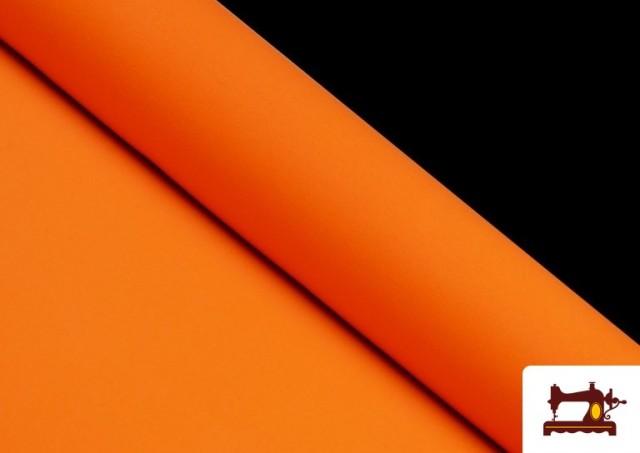 Comprar online Tela Plana Stretch Economica Multicolor, Negro, Blanco +16 Colores color Naranja