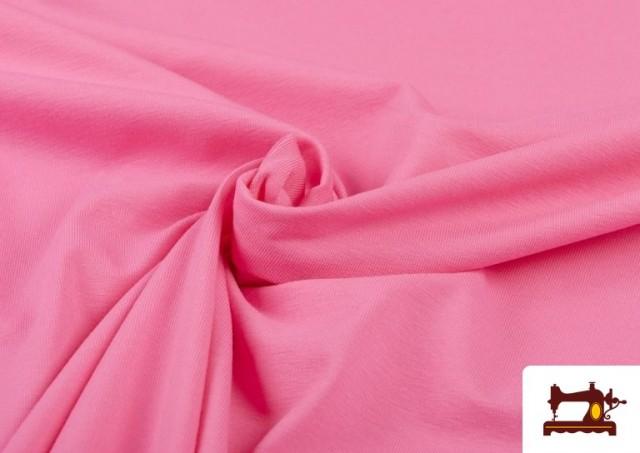Comprar Tela Plana Stretch Economica Multicolor, Negro, Blanco +16 Colores color Rosa