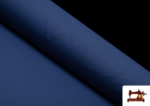 Tela Plana Stretch Economica Multicolor, Negro, Blanco +16 Colores color Azul azafata