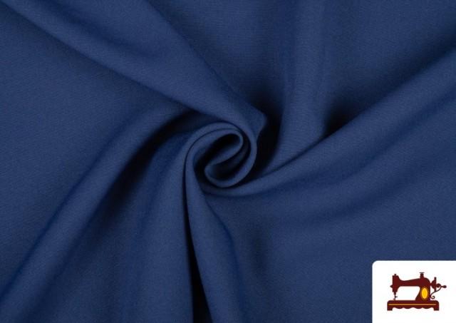Venta de Tela Plana Stretch Economica Multicolor, Negro, Blanco +16 Colores color Azul azafata