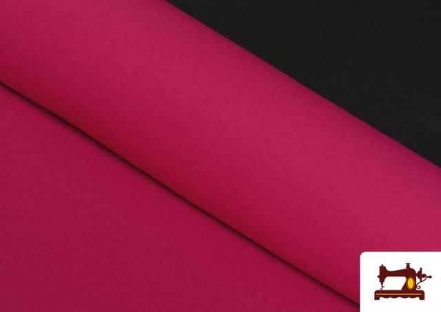 Tela Plana Stretch Economica Multicolor, Negro, Blanco +16 Colores color Fucsia