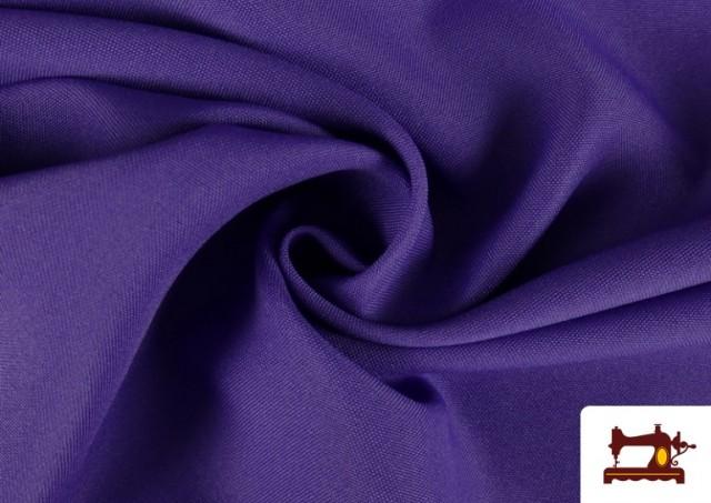 Venta online de Tela Plana Stretch Economica Multicolor, Negro, Blanco +16 Colores color Lila