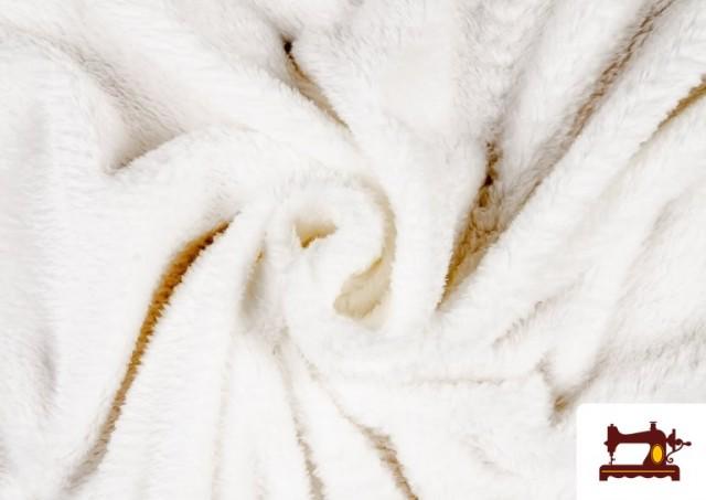 Venta de Tela de Coralina de Colores color Blanco