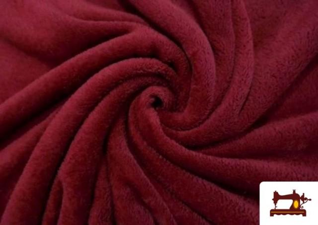 Venta de Tela de Coralina de Colores color Granate