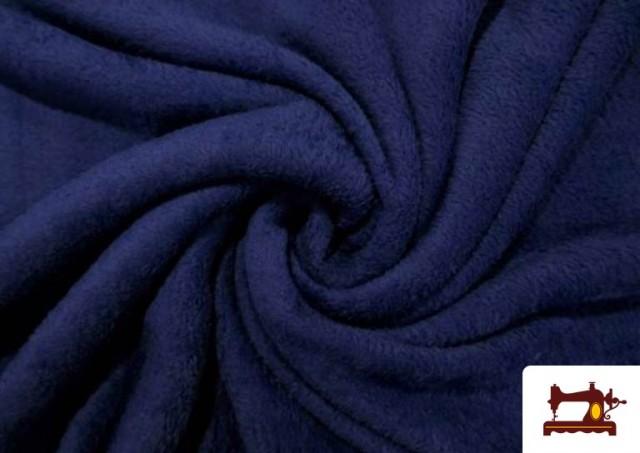 Venta online de Tela de Coralina de Colores color Azul Marino