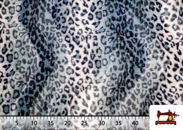 Venta de Tela de Leopardo para Disfraces y para Tapizar color Gris