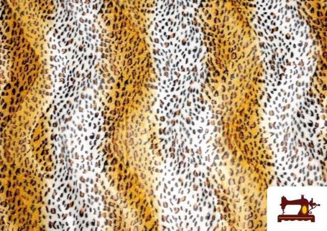 Tela de Leopardo para Disfraces y para Tapizar color Tostado