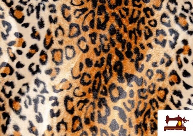 Venta de Tela de Leopardo para Disfraces y para Tapizar color Marrón
