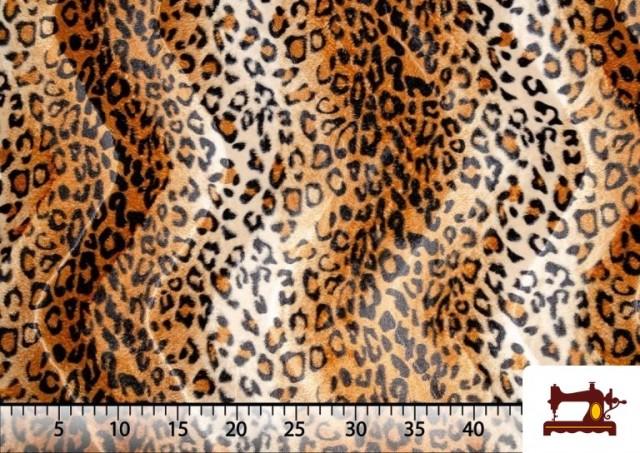 Comprar online Tela de Leopardo para Disfraces y para Tapizar color Marrón