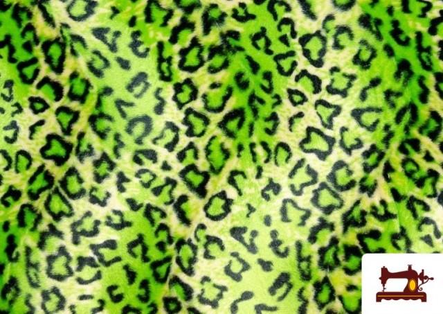 Tela de Leopardo para Disfraces y para Tapizar color Pistacho