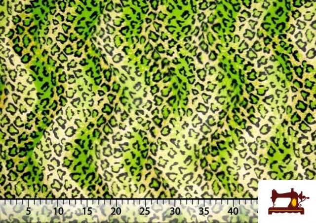 Comprar online Tela de Leopardo para Disfraces y para Tapizar color Pistacho