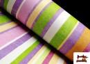 Comprar online Telas de Rayas Anchas para Decoración Multicolor color Malva